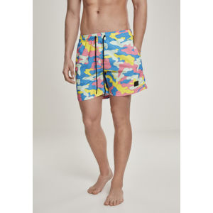 Urban Classics Camo Swim Shorts happy camo