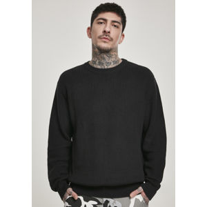 Urban Classics Cardigan Stitch Sweater black
