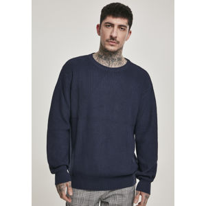 Urban Classics Cardigan Stitch Sweater midnightnavy