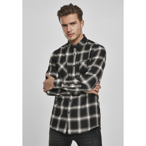 Urban Classics Checked Flanell Shirt 6 black/white