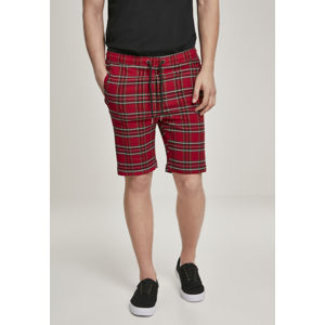 Urban Classics Checker Shorts red/blk