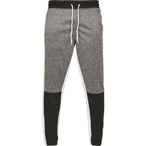 Urban Classics Color Block Marled Track Pants marled black