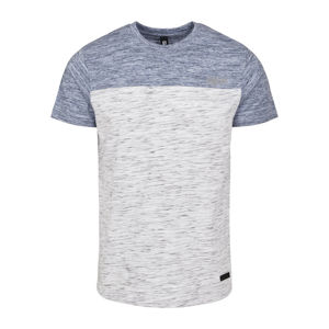 Southpole Color Block Tech Tee marled white