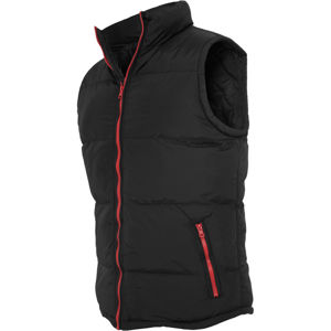 Urban Classics Contrast Bubble Vest blk/red