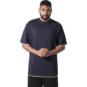Urban Classics Contrast Tall Tee nvy/wht