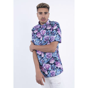 Urban Classics C&S WL Roses Short Sleeve Shirt black/mc