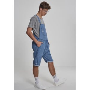 Urban Classics Denim Short Dungaree bleached blue