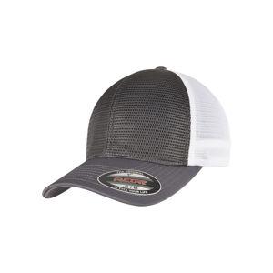 Urban Classics FLEXFIT 360 OMNIMESH CAP 2-TONE charcoal/white