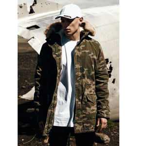 Urban Classics Garment Washed Camo Parka wood camo