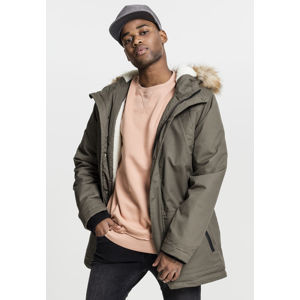 Urban Classics Heavy Cotton Imitation Fur Parka olive