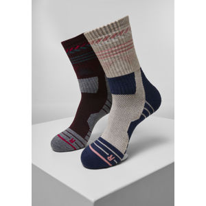 Urban Classics Hiking Performance Socks 2-Pack blue/grey