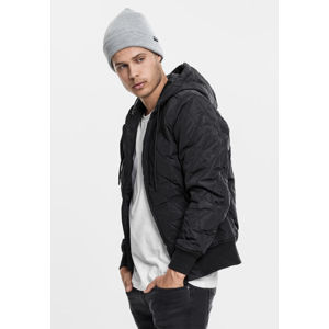 Urban Classics Hooded Big Diamond Quilt Jacket black
