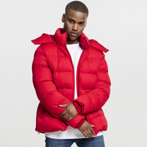 Urban Classics Hooded Boxy Puffer Jacket fire red