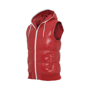 Urban Classics Hooded Bubble Vest red/wht
