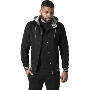 Urban Classics Hooded College Sweatjacket blk/gry