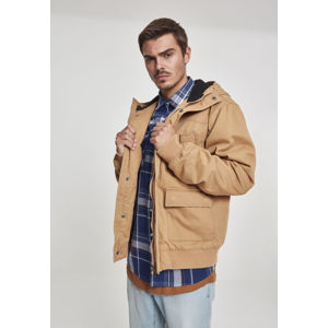 Urban Classics Hooded Cotton Jacket camel