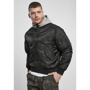 Urban Classics Hooded MA1 Bomber Jacket blk/gry
