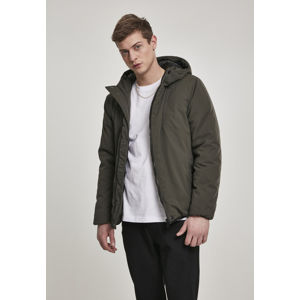 Urban Classics Hooded Sporty Zip Jacket darkolive