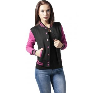 Urban Classics Ladies 2-tone College Sweatjacket blk/fuc