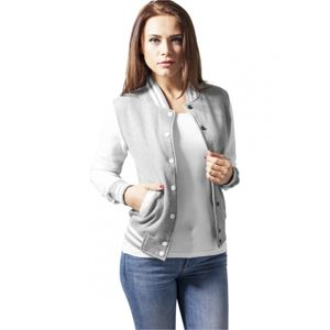 Urban Classics Ladies 2-tone College Sweatjacket gry/wht