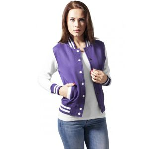 Urban Classics Ladies 2-tone College Sweatjacket pur/wht