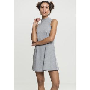 Urban Classics Ladies A-Line Turtleneck Dress grey