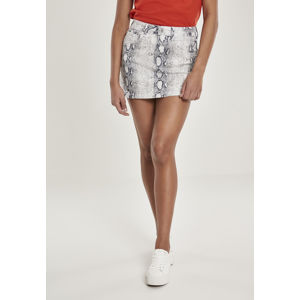 Urban Classics Ladies Animal Stretch Twill Skirt offwhite snake