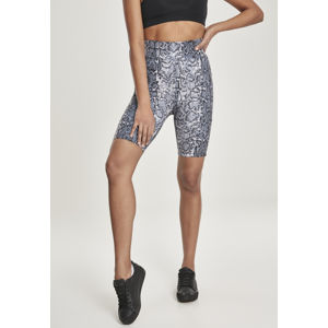 Urban Classics Ladies AOP High Waist Cycling Shorts grey snake