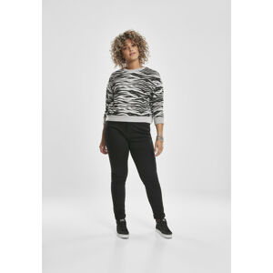 Urban Classics Ladies AOP Short Tiger Crew grey tiger