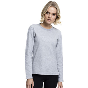 Urban Classics Ladies Athletic Interlock Crewneck grey