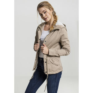 Urban Classics Ladies Basic Cotton Parka sand