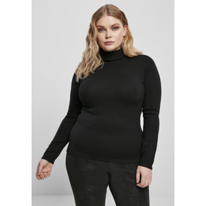Urban Classics Ladies Basic Turtleneck Sweater black