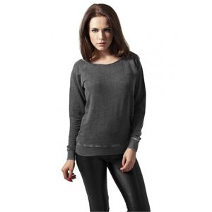 Urban Classics Ladies Burnout Open Edge Crew darkgrey