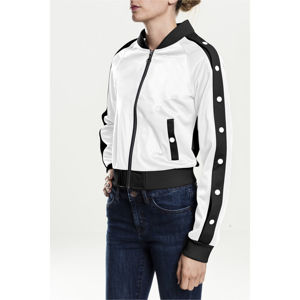 Urban Classics Ladies Button Up Track Jacket wht/blk/wht