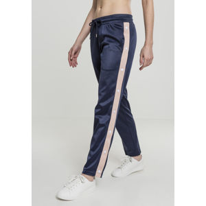 Urban Classics Ladies Button Up Track Pants navy/lightrose/white