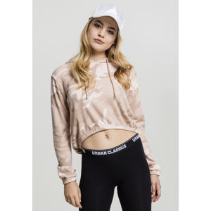 Urban Classics Ladies Camo Cropped Hoody rose camo
