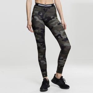Urban Classics Ladies Camo Logo Leggings wood camo