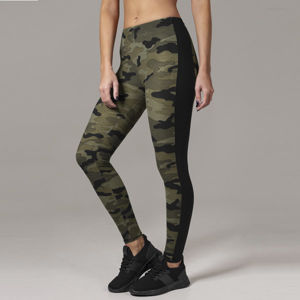 Urban Classics Ladies Camo Stripe Leggings woodcamo/blk