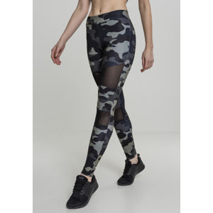 Urban Classics Ladies Camo Tech Mesh Leggings darkcamo/blk
