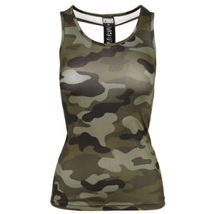 Urban Classics Ladies Camo Top wood camo