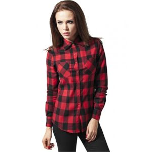 Urban Classics Ladies Checked Flanell Shirt blk/red