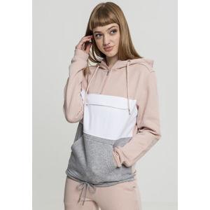 Urban Classics Ladies Color Block Sweat Pullover lightrose/grey/white