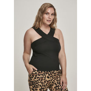 Urban Classics Ladies Cross Top black