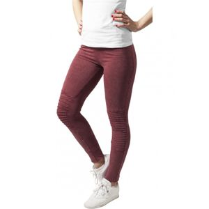 Urban Classics Ladies Denim Jersey Leggings burgundy