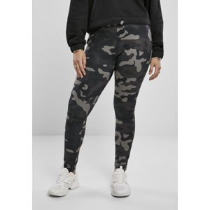 Urban Classics Ladies High Waist Camo Tech Leggings dark camo