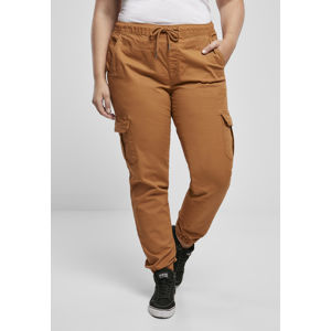 Urban Classics Ladies High Waist Cargo Jogging Pants toffee