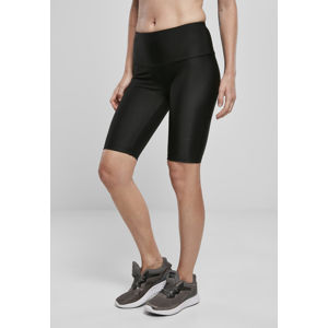 Urban Classics Ladies High Waist Shiny Rib Cycle Shorts black