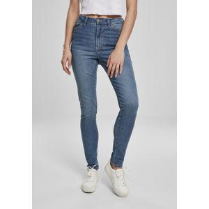 Urban Classics Ladies High Waist Slim Jeans mid stone wash
