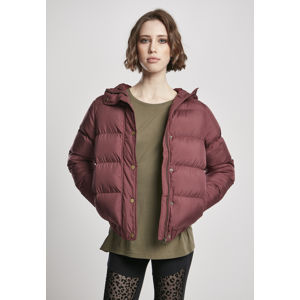 Urban Classics Ladies Hooded Puffer Jacket cherry