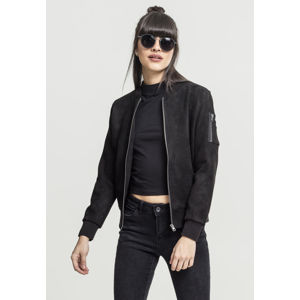 Urban Classics Ladies Imitation Suede Bomber Jacket black
